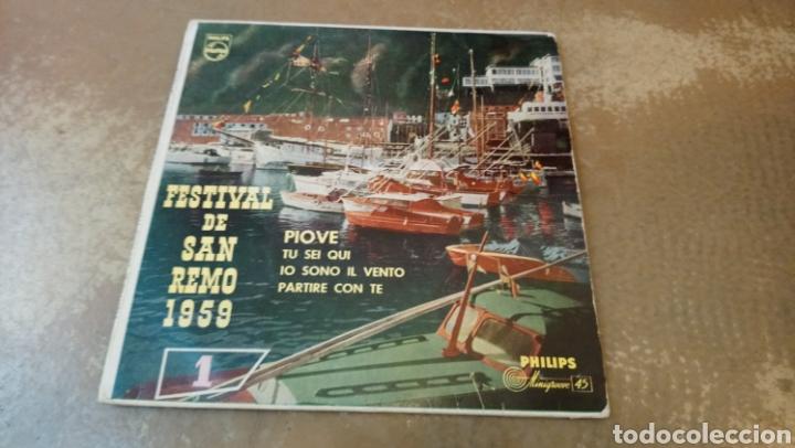 FESTIVAL DE SAN REMO 1959.CANTA ARTURO TESTA. PIOVE. EP VINILO (Música - Discos de Vinilo - EPs - Otros Festivales de la Canción)