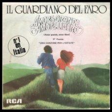 Discos de vinilo: XX VINILO, IL GUARDIANO DEL FARO, SMORE GRANDE AMORE LIBERO.. Lote 184457697