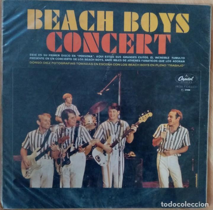 BEACH BOYS CONCERT. EMI-CAPITOL, LA FABRICA VENEZOLANA DE DISCOS (Música - Discos - LP Vinilo - Pop - Rock Internacional de los 50 y 60)