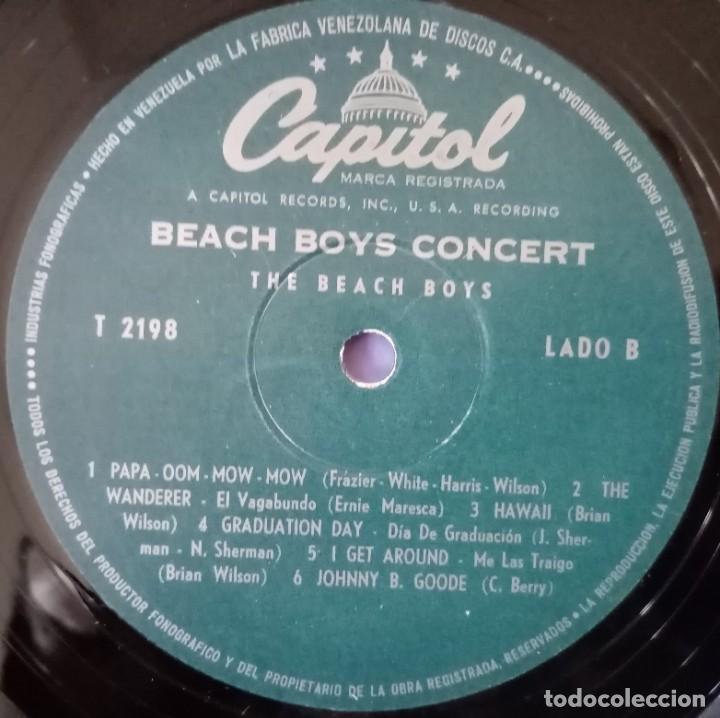 Discos de vinilo: BEACH BOYS CONCERT. Emi-Capitol, LA FABRICA VENEZOLANA DE DISCOS - Foto 5 - 184459305