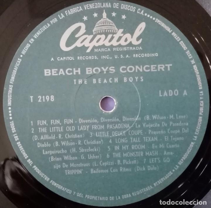 Discos de vinilo: BEACH BOYS CONCERT. Emi-Capitol, LA FABRICA VENEZOLANA DE DISCOS - Foto 6 - 184459305