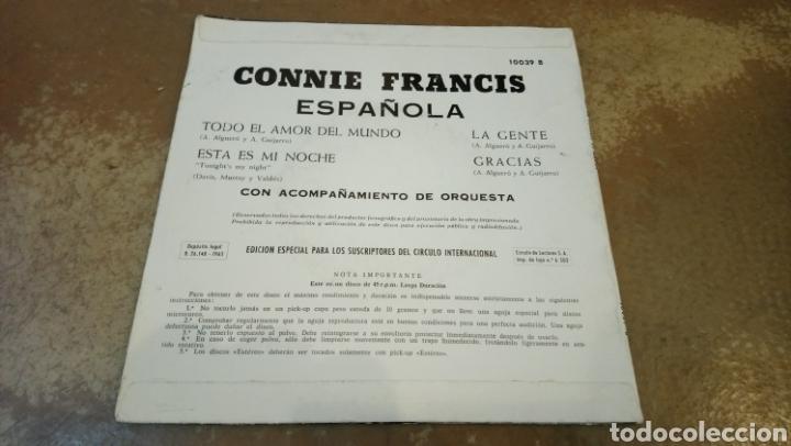 Discos de vinilo: CONNIE FRANCIS - ESPAÑOLA. EP 1965 - Foto 2 - 184461085
