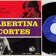 Discos de vinilo: ALBERTINA CORTES - DEJAME - EP DE VINILO #. Lote 184462057