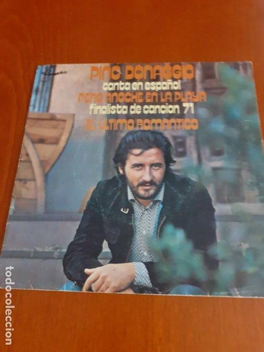 SINGLE DE PINO DONAGGIO ANOCHE EN LA PLAYA AÑO 1971 (Música - Discos - Singles Vinilo - Otros Festivales de la Canción)
