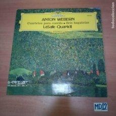 Discos de vinilo: ANTÓN WEBERN. Lote 184475105