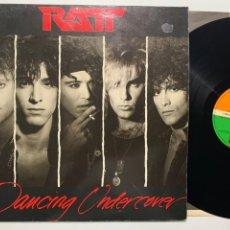 Discos de vinilo: DISCO LP VINILO RATT DANCING UNDERCOVER EDICIÓN ESPAÑOLA DE 1986. Lote 184477438