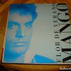 Discos de vinilo: MANGO. FLOR DE VERANO. ARIOLA, 1987. MAXI-SINGLE. IMPECABLE (#). Lote 184477462