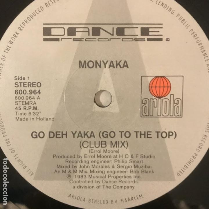Discos de vinilo: Monyaka – Go Deh Yaka 1983 - Foto 2 - 184492628
