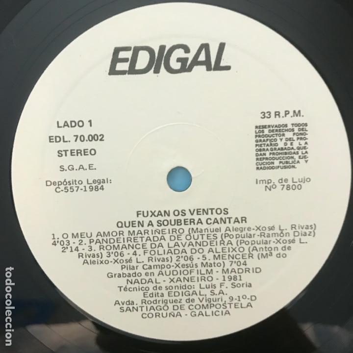 Discos de vinilo: Fuxan Os Ventos Quen A Soubera Cantar_GAT_1984 - Foto 4 - 184494877