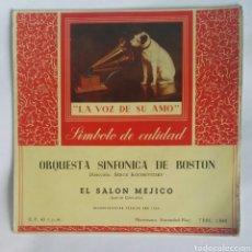 Discos de vinilo: ORQUESTA SINFÓNICA DE BOSTON EL SALÓN MEJICO. Lote 184496161