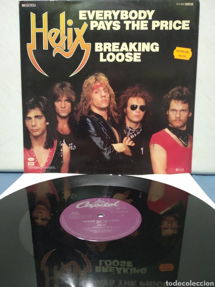 Discos de vinilo: Helix - Heavy Metal Love +2 Ed Alemana 1983 - Foto 2 - 184498665