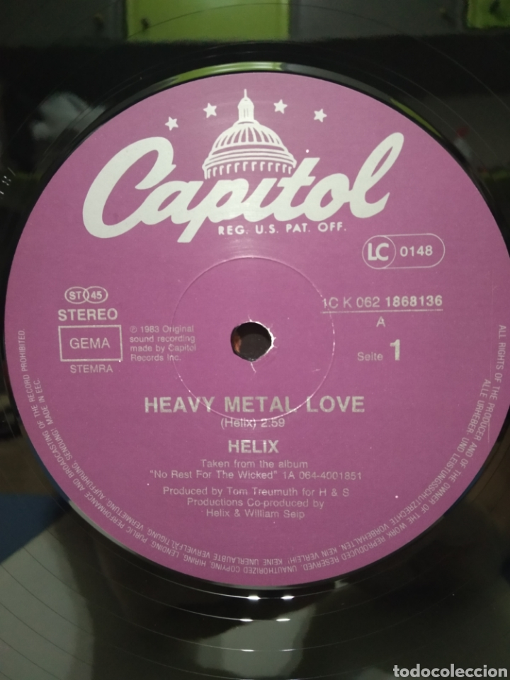 Discos de vinilo: Helix - Heavy Metal Love +2 Ed Alemana 1983 - Foto 3 - 184498665