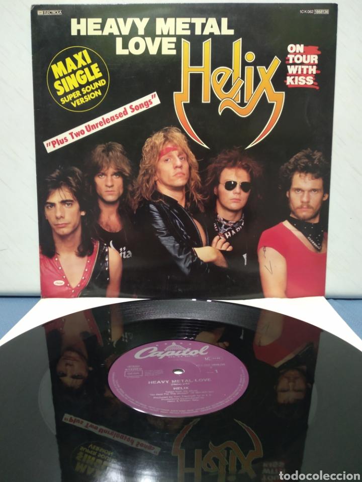 HELIX - HEAVY METAL LOVE +2 ED ALEMANA 1983 (Música - Discos de Vinilo - Maxi Singles - Heavy - Metal)