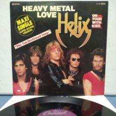 Discos de vinilo: HELIX - HEAVY METAL LOVE +2 ED ALEMANA 1983. Lote 184498665