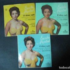 Discos de vinilo: LOTE 3 SINGLES EL ULTIMO CUPLE. SARITA SARA MONTIEL. . Lote 184505537