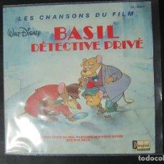 Discos de vinilo: SINGLE SOUNDTRACK BSO BASIL EL RATÓN SUPERDETECTIVE. EDICION FRANCESA. WALT DISNEY. MANCINI. BSO. Lote 184505567
