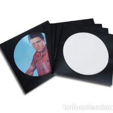 Discos de vinilo: 10 CARPETAS GENERICAS / FUNDAS DE CARTON NEGRO PARA DISCOS DE VINILO LP PICTURE DISC. Lote 205656956