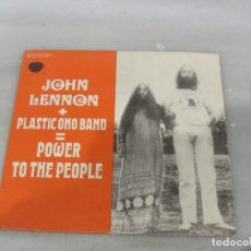 Discos de vinilo: SINGLE JOHN LENNON. PLASTIC ONO BAND. POWER TO THE PEOPLE.. Lote 184515355