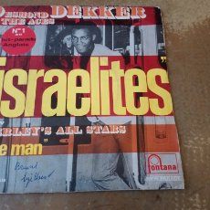Discos de vinilo: DESMOND DEKKER AND THE ACES, BEVERLEY'S ALL STARS ‎– ISRAELITES / THE MAN - SINGLE FRANCIA 1969 -. Lote 184515462