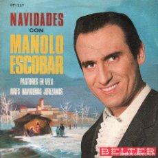 Discos de vinil: MANOLO ESCOBAR - NAVIDADES - PASTORES EN VELA / AIRES NAVIDEÑOS JEREZANOS - SINGLE 1965 RF-4209. Lote 184515678