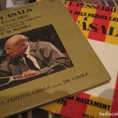 Discos de vinilo: LP PAU CASALS EL PESSEBRE JOAN ALAVEDRA DISCOPHON 4267/68 + LIBRETO + POSTER DOBLE LP. Lote 184518362