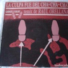 Discos de vinilo: GABINETE CALIGARI LA CULPA FUE DEL CHA CHA CHA (RAÚL ORELLANA REMIX). Lote 184531375