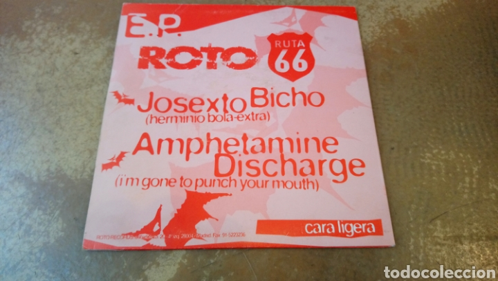 Discos de vinilo: Roto / Ruta 66 E.P . Pleasure fuckers / big crunch / el bicho / amphetamine discharge - 1994 - Foto 2 - 184547785