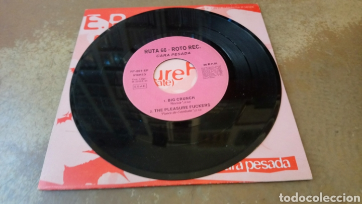 Discos de vinilo: Roto / Ruta 66 E.P . Pleasure fuckers / big crunch / el bicho / amphetamine discharge - 1994 - Foto 3 - 184547785