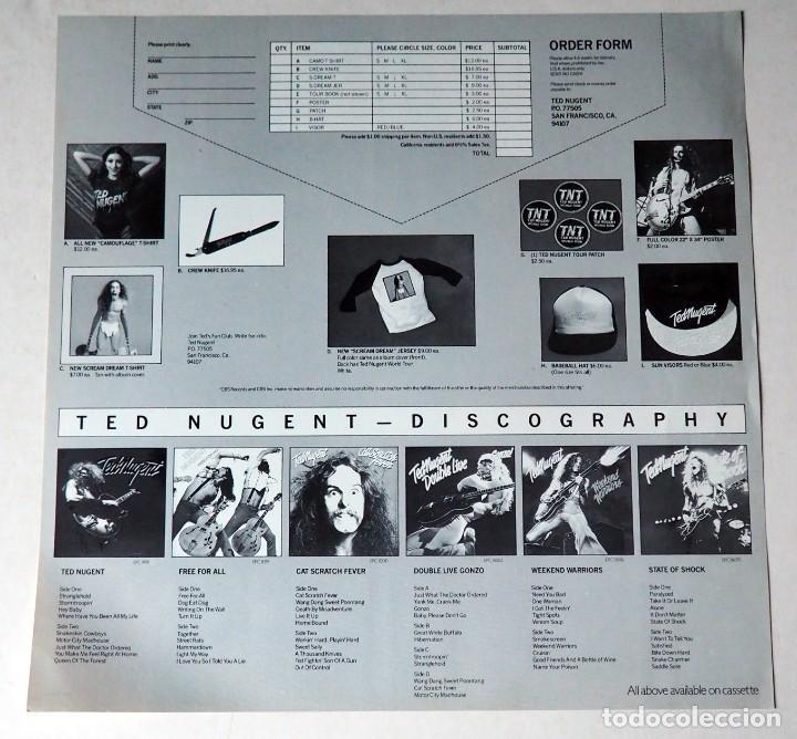 Discos de vinilo: LP. TED NUGENT. SCREAM DREAM. AÑO 1980 - Foto 4 - 184550053