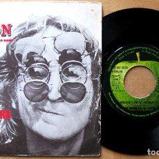 Discos de vinilo: JOHN LENNON - WHATEVER GETS YOU THRU THE NIGHT / BEEF JERKY - SINGLE APPLE RECORDS 1974 FRANCIA BPY. Lote 184551542