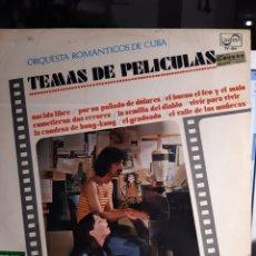Discos de vinilo: ORQUESTA ROMÁNTICOS DE CUBA,TEMAS DE PELICULAS. Lote 184554751