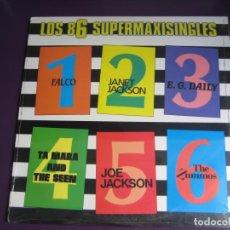 Discos de vinilo: LOS 6 SUPER MAXISINGLES LP A&M 1986 PRECINTADO - FALCO - JANET JACKSON - DISCO POP ELECTRONICA 80'S. Lote 184565957