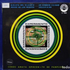 Discos de vinilo: EXPERIMENTO - CRUCIFIXION +3 - EP LUIS EDUARDO AUTE, MARIA OSTIZ.... Lote 184566090