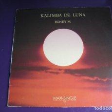 Discos de vinilo: BONEY M. MAXI SINGLE ARIOLA 1984 - KALIMBA DE LUNA - ELECTRONICA DISCO . Lote 184567895