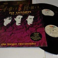Discos de vinilo: LA UNIÓN EN CONCIERTOTREN DE LAR5GO RECORRIDO DOBLE LP 1992 CON ENCARTES.. Lote 184568826