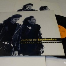 Discos de vinil: CATORCE DE SEPTIEMBRE CUENTAS PENDIENTAS LP 1990. Lote 184570887