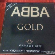 Discos de vinilo: ABBA GOLD GREATEST HITS 2 LP. Lote 184577863