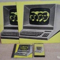 Discos de vinil: LOTE COMPUTER WORLD DE KRAFTWERK-2 LP,S VINILO(UNO A ESTRENAR) CD Y UNA CINTA CASSETTE.AÑO 1981.. Lote 159143070