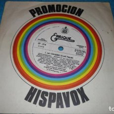 Discos de vinilo: ENRIQUE Y ANA - LAS CANCIONES DE LOS PEQUES (SINGLE PROMO HISPAVOX 1978). Lote 184586512