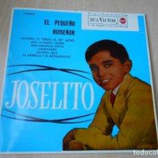Discos de vinilo: JOSELITO - EL PEQUEÑO RUISEÑOR -, EP, CUANDO TE PERDIÓ EL REY MORO + 5, AÑO 1972. Lote 184596690