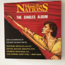 Discos de vinilo: VV.AA. - MUSIC FOR NATIONS - THE SINGLES ALBUM - LP DOBLE MUSIC FOR NATIONS UK 1986. Lote 184601712