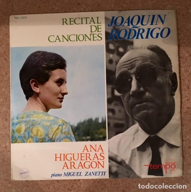 JOAQUÍN RODRIGO - ANA HIGUERAS ARAGÓN (Música - Discos - LP Vinilo - Clásica, Ópera, Zarzuela y Marchas)