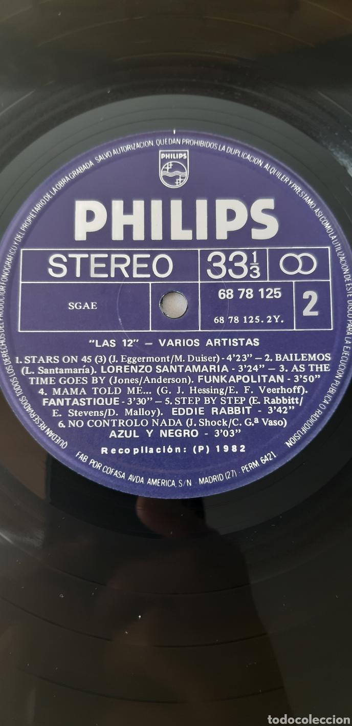 Discos de vinilo: UNICO!!?? LP Las 12. VARIOS ARTISTAS. STEVE MILLER, ELTON JONHS.MOODY BLUES, KISS, Azul y negro,,,, - Foto 5 - 184612085