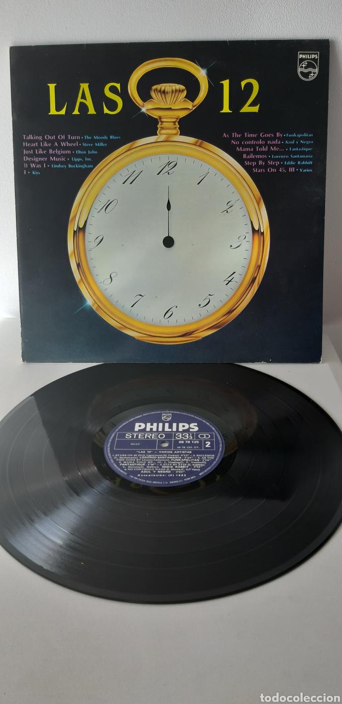 UNICO!!?? LP LAS 12. VARIOS ARTISTAS. STEVE MILLER, ELTON JONHS.MOODY BLUES, KISS, AZUL Y NEGRO,,,, (Música - Discos - LP Vinilo - Pop - Rock - New Wave Extranjero de los 80)