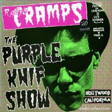 Discos de vinilo: VARIOS - RADIO CRAMPS: THE PURPLE KNIF SHOW (2LP 1999, GATEFOLD, MR 151/1999) NUEVO Y PRECINTADO. Lote 184632195