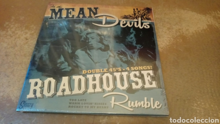 THE MEAN DEVILS–ROADHOUSE RUMBLE . DOBLE SINGLE PRECINTADO. ROCKABILLY. (Música - Discos - Singles Vinilo - Rock & Roll)