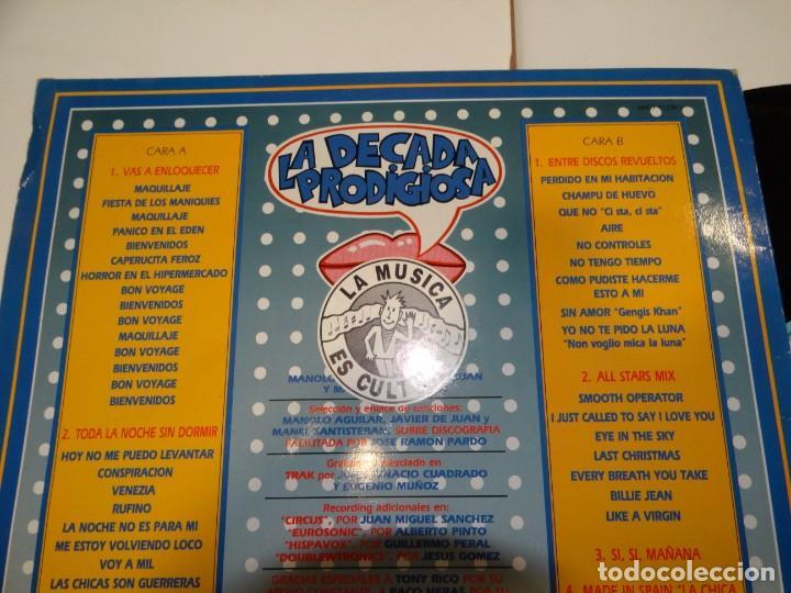 Discos de vinilo: LA DECADA PRODIGIOSA LOS AÑOS 80 LP 1988 - Foto 3 - 184645457