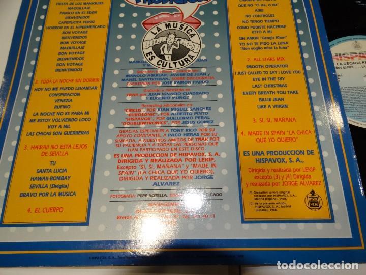 Discos de vinilo: LA DECADA PRODIGIOSA LOS AÑOS 80 LP 1988 - Foto 4 - 184645457