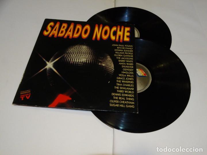 SABADO NOCHE DOBLE LP 1991 VARIOS ARTISTAS (Música - Discos - LP Vinilo - Pop - Rock Extranjero de los 90 a la actualidad)