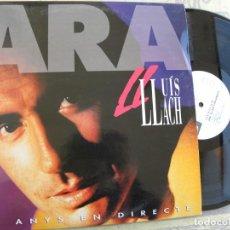 Discos de vinilo: LLUIS LLACH -25 ANYS EN DIRECTE -DOBLE LP 1992 -BUEN ESTADO. Lote 184655012